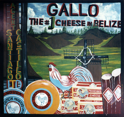 Gallo Cheese, the Number 1 Cheese in Belize (sign).