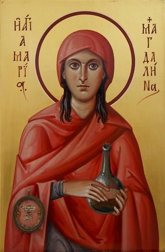 Icono de Santa María Magdalena de la catedral ortodoxa rusa de Madrid