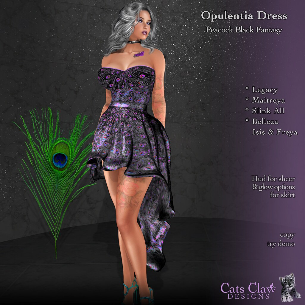 _CCD_ Opulentia Dress-Peacock Black Fantasy-AD