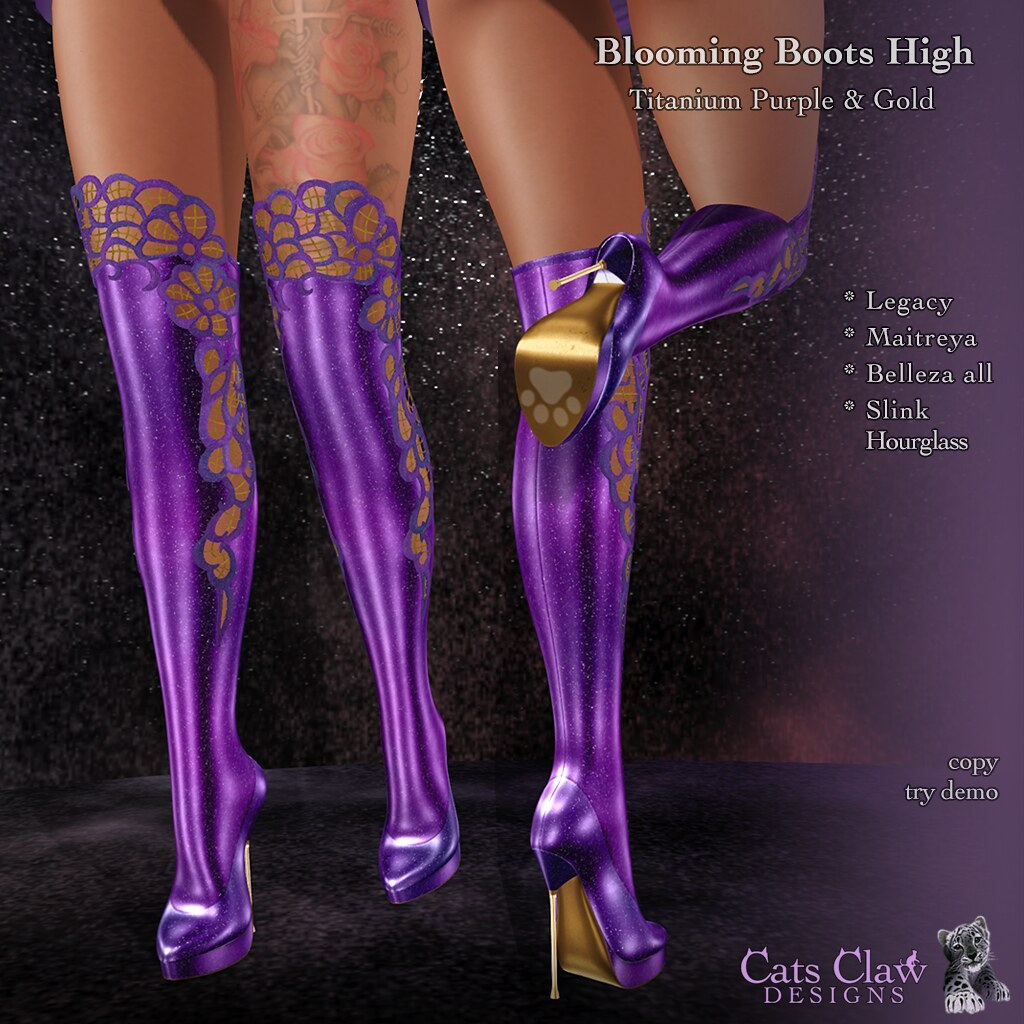 _CCD_ Blooming Boots High-Titanium Purple & GoldAD