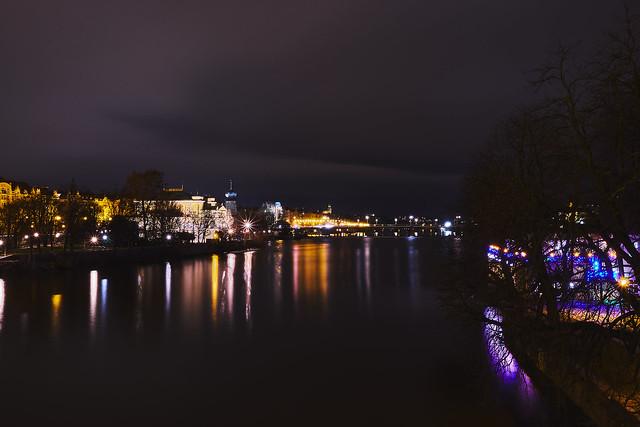 Moldava night lights