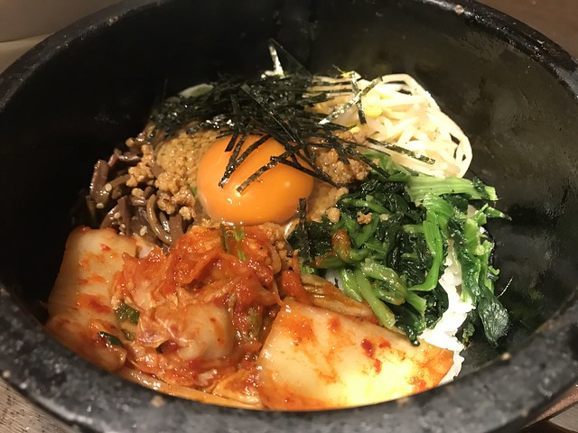 Krean stone-roasted bibimbap @Banya, Tokyo