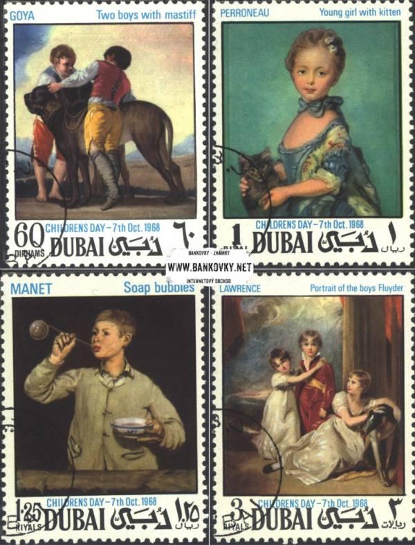 Známky Dubaj 1968 Maľby detí