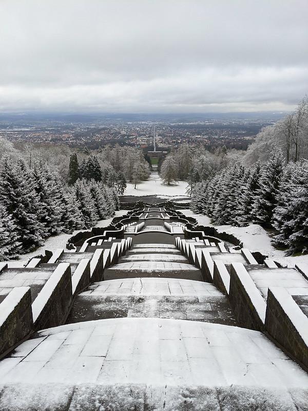 Blick auf den Bergpark Wilhelmshöhe.