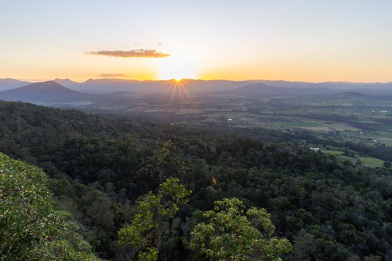 Sonnenuntergang am Mount French.
