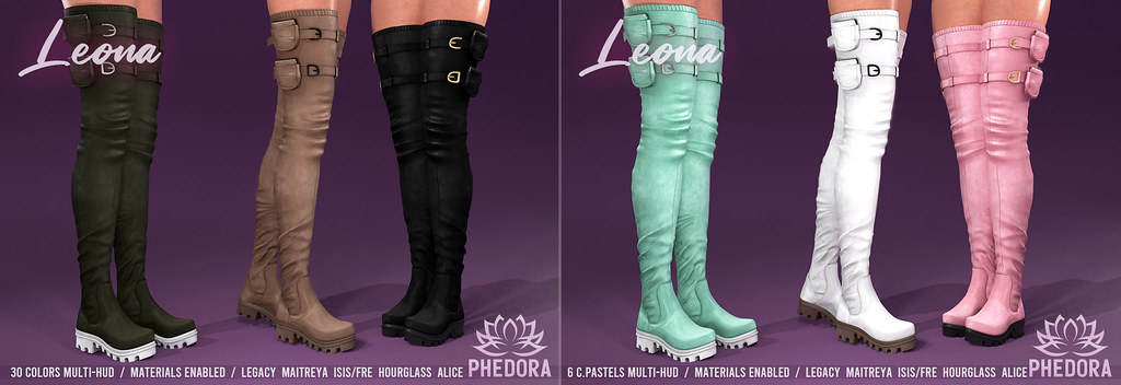 "Phedora for Equal10 ~ ""Leona"" Boots + GIVE*AWAY!!! ♥"
