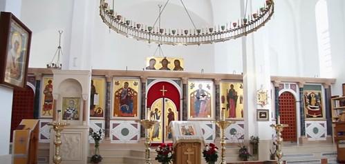 Interior de la catedral ortodoxa rusa de Madrid (Santa María Magdalena) en el distrito de Hortaleza