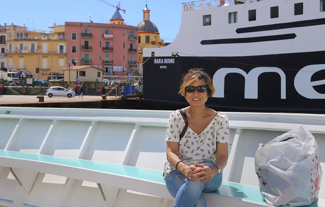 Kanitha arrived in the colorful harbor of Pozzuoli