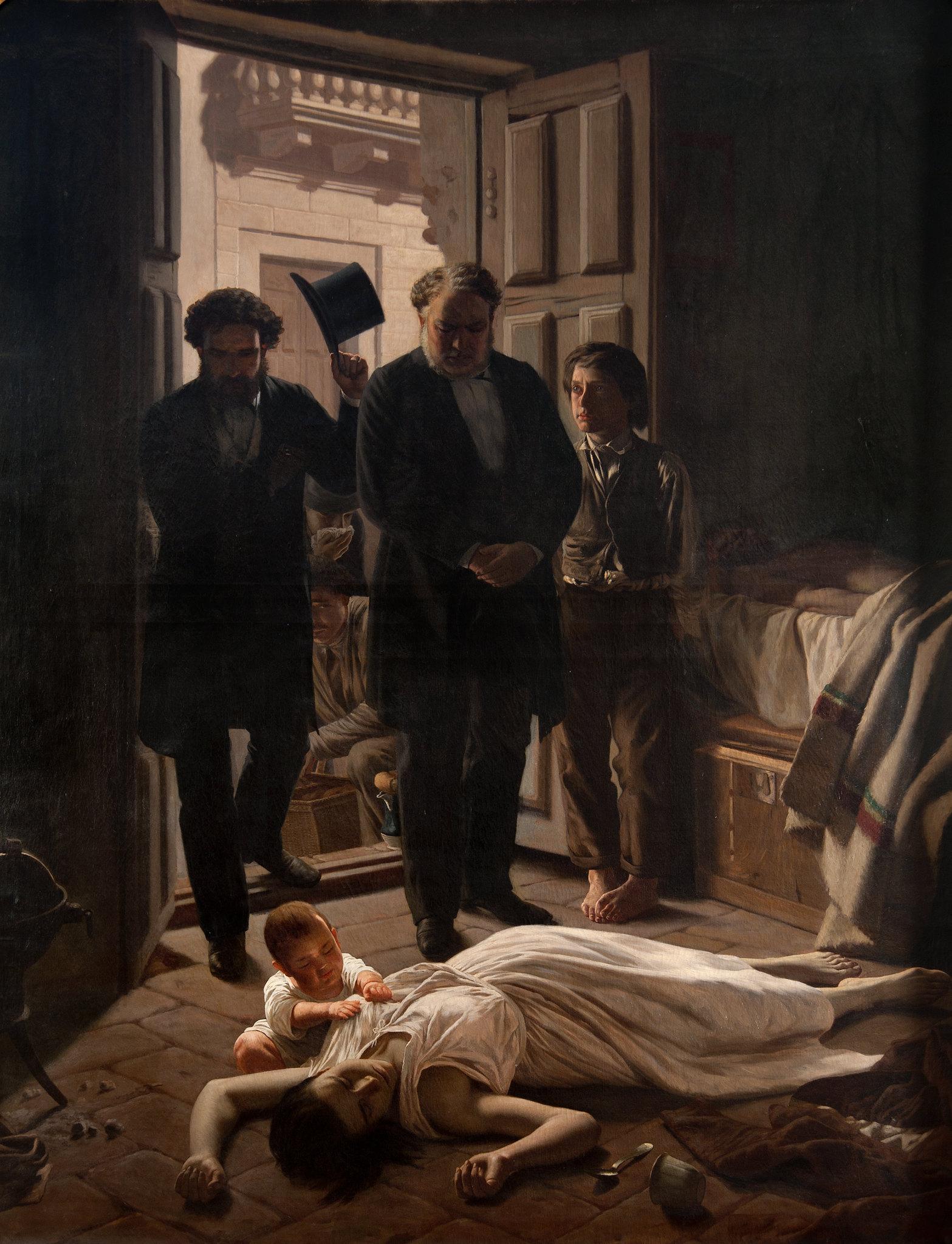 Episodio de la Fiebre Amarilla en Buenos Aires. Juan Manuel Blanes. 1871.