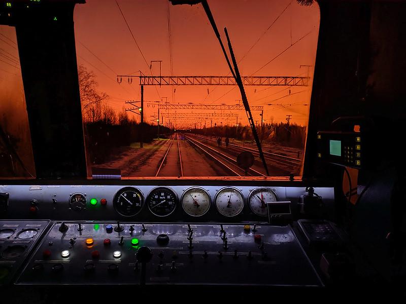 Восход солнца на ст. Уйта