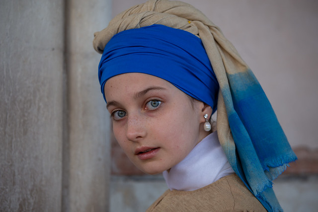 Vermeer's Girl with a pearl earring seen in Venice