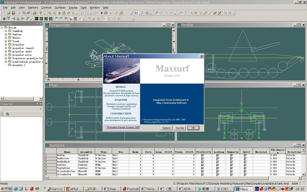 Working with FORMSYS MAXSURF V13.01 full license