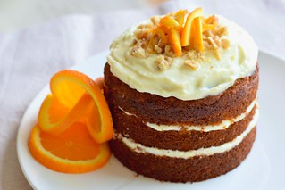 Carrot-orange cake with ricotta frosting