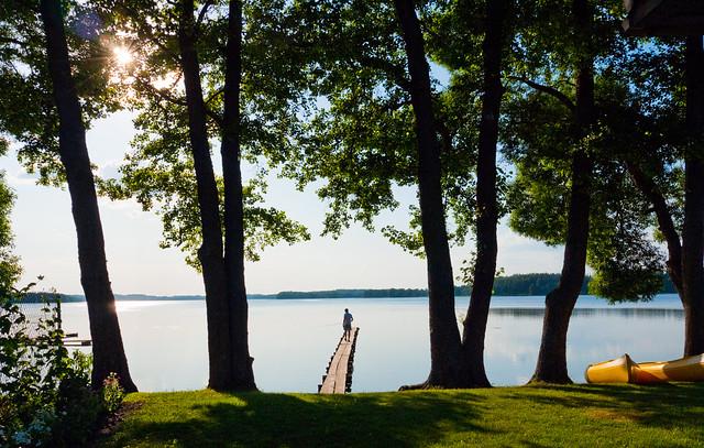 Lake Lusiai, Ignalina, Lithuania