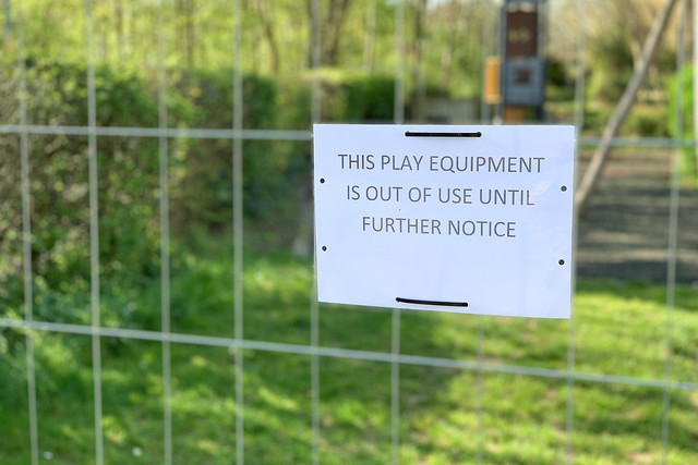 This play equipment is out of use until futher notice