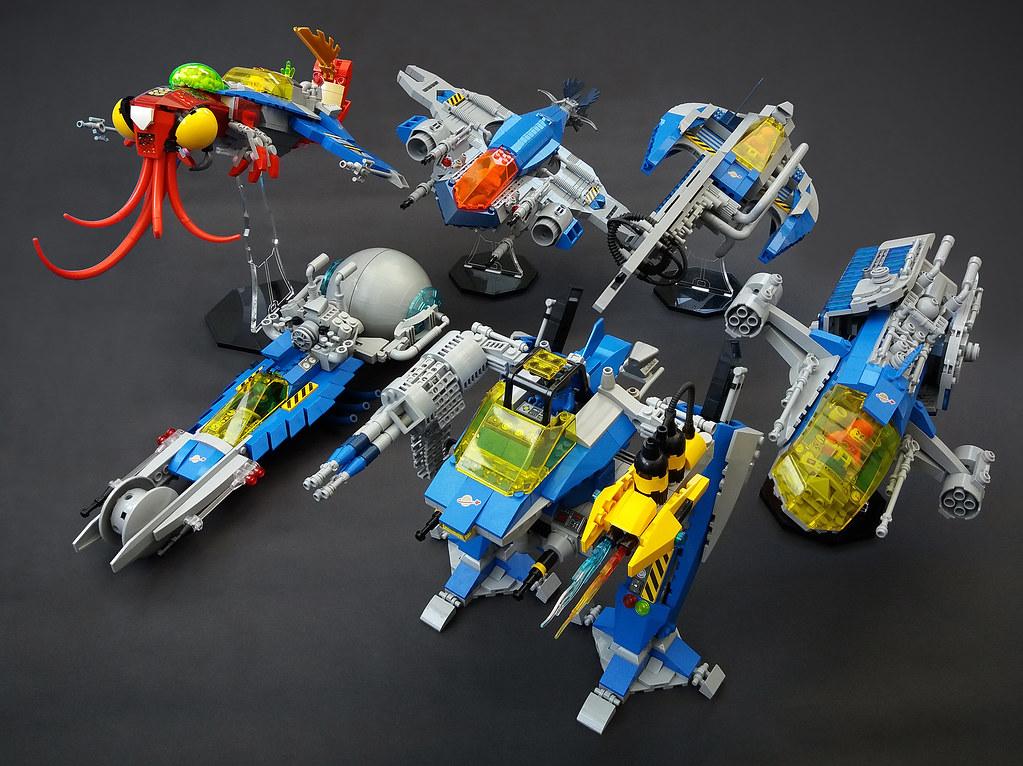 MOC Neo Classic Space attack fleet