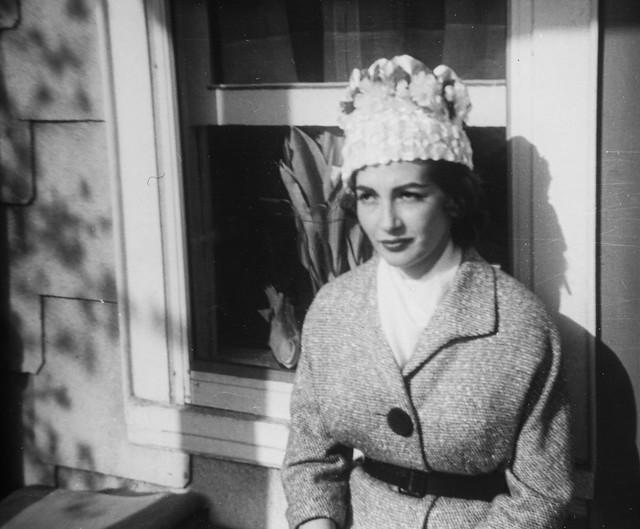 Portrait of Clara in her Easter hat, 1962