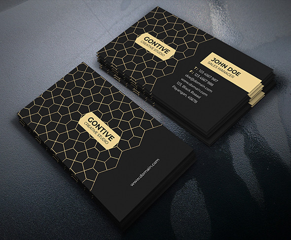 Gold Modern Business Card