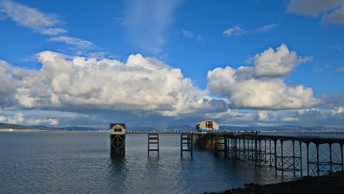 seaside sea seascape wales mumbles lifeboat rnli clouds blue nature landscape pier beach nikon d800 water boathouse structure buildings