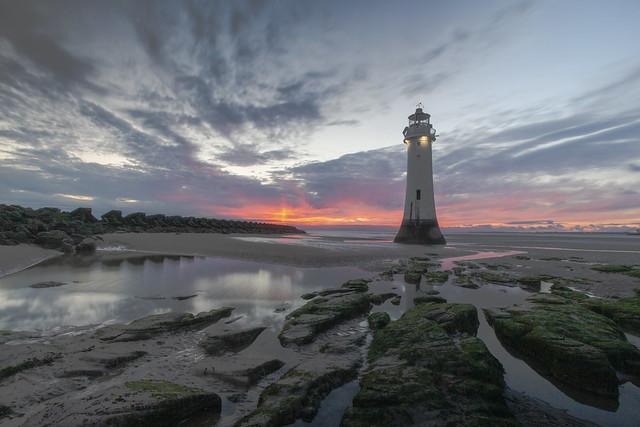 New Brighton Lighthouse at Sunset #Explore April 12th 2020