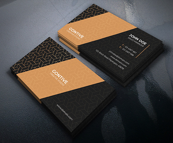 Gold Business Card PSD