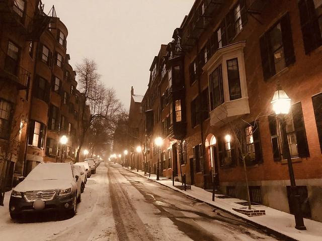 Snow on Beacon Hill