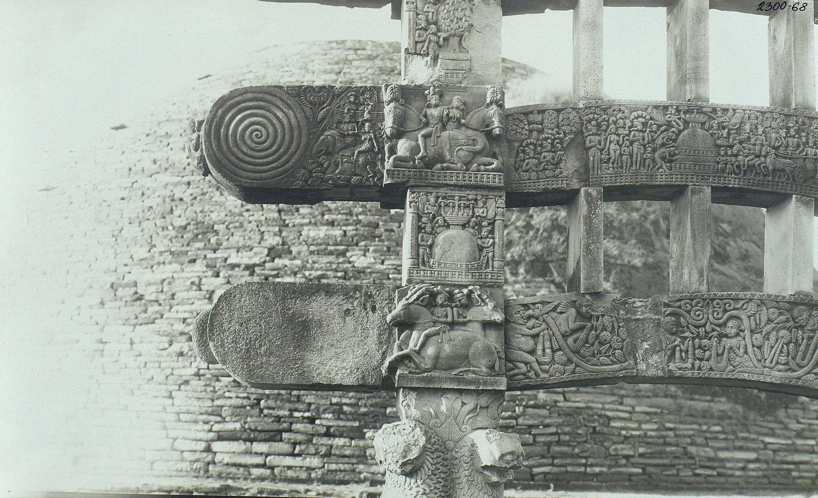Буддийская ступа в Санчи (детали вторых ворот)