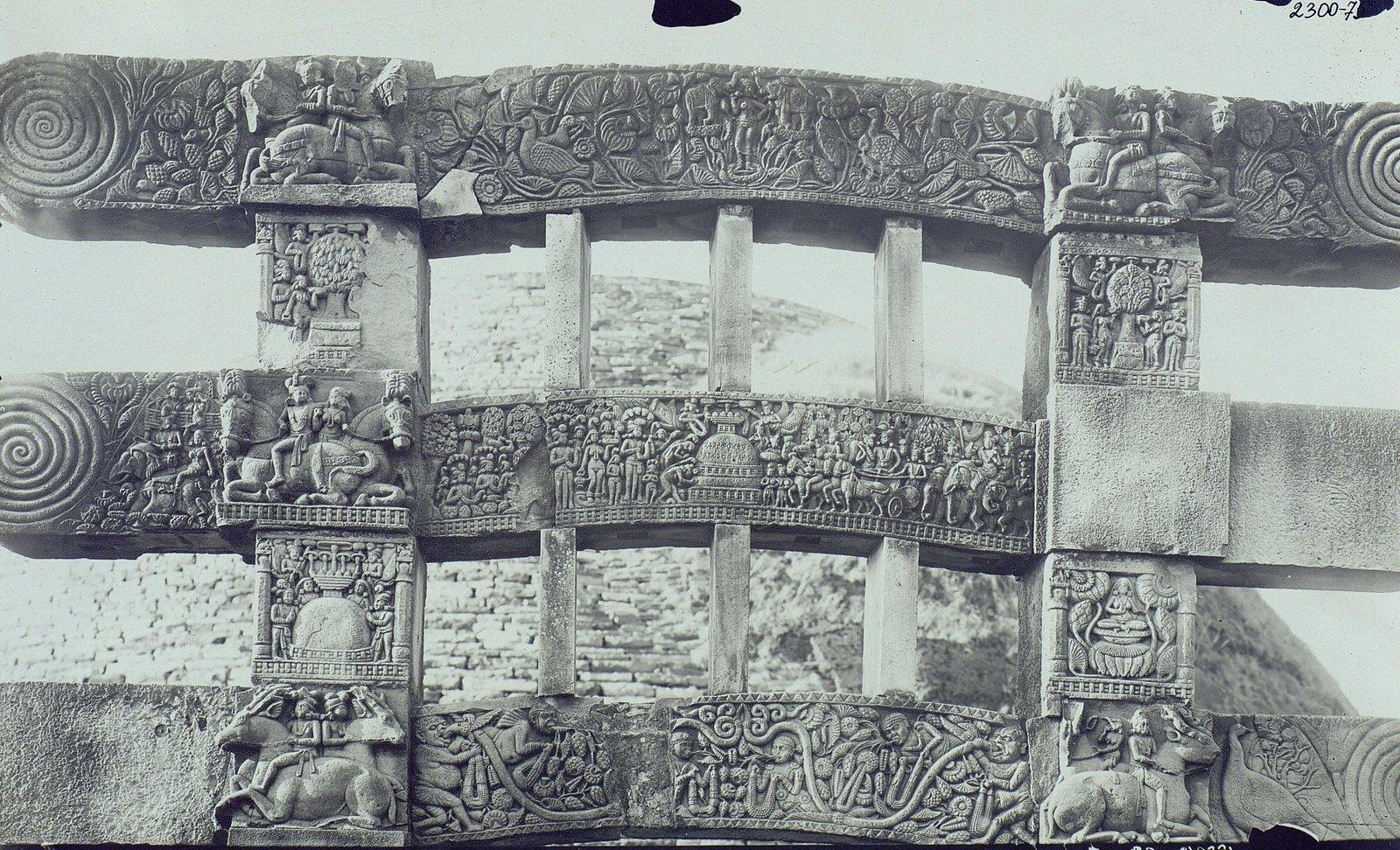 Буддийская ступа в Санчи (детали вторых ворот) (11)