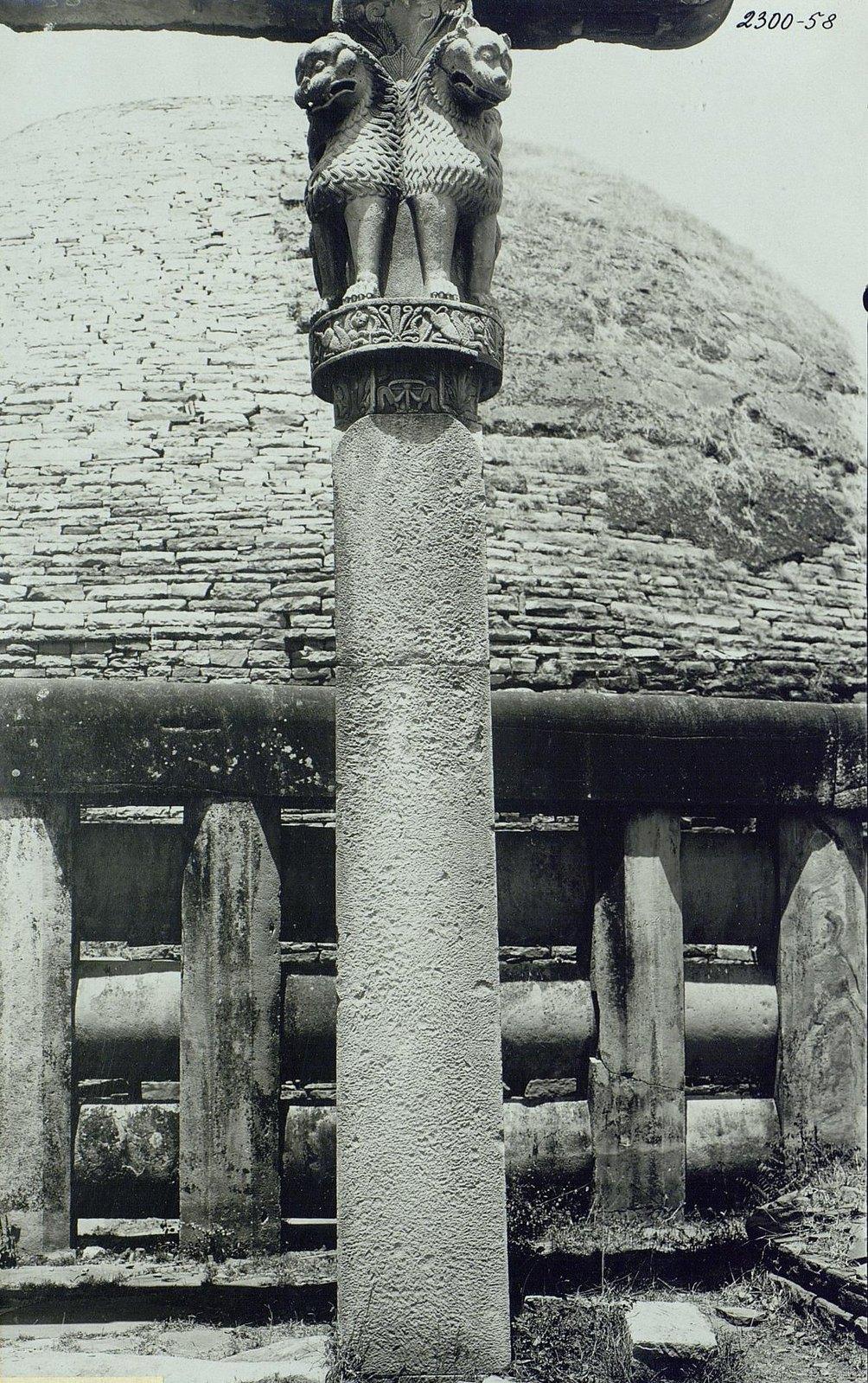 Буддийская ступа в Санчи (детали вторых ворот) (10)