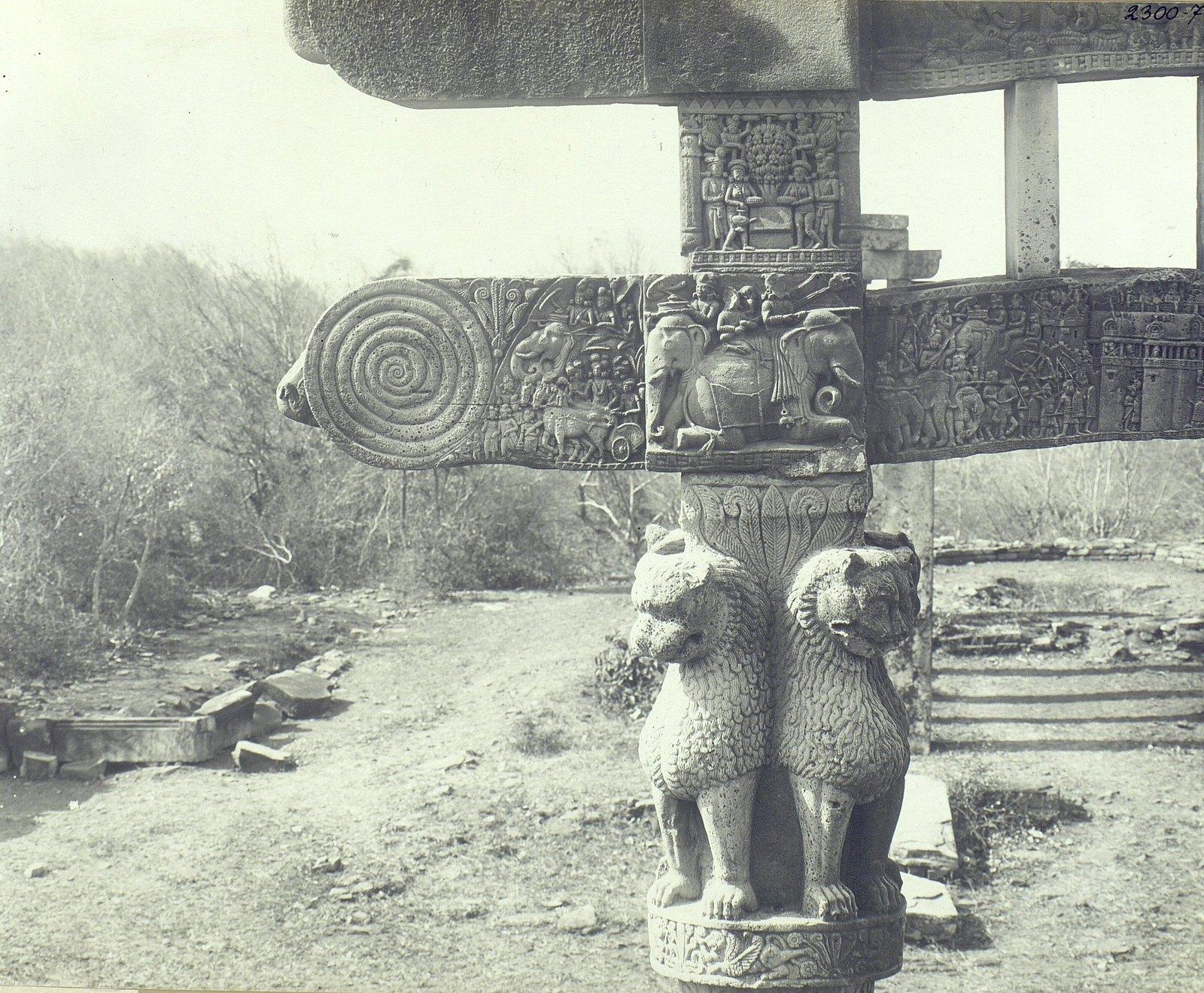 Буддийская ступа в Санчи (детали вторых ворот) (3)
