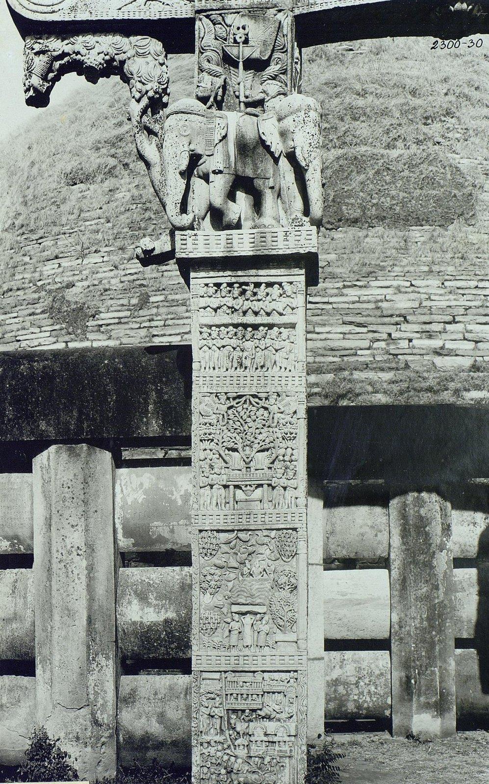 Буддийская ступа в Санчи (детали первых ворот) (15)