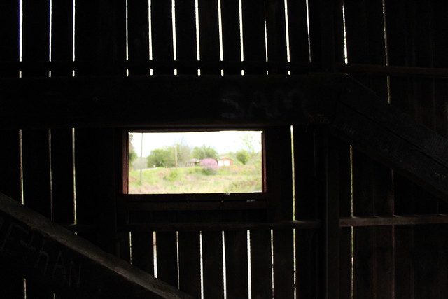 Inside of Bible Covered Bridge