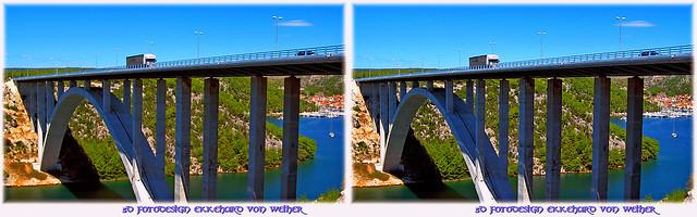 Krka Bridge 3D