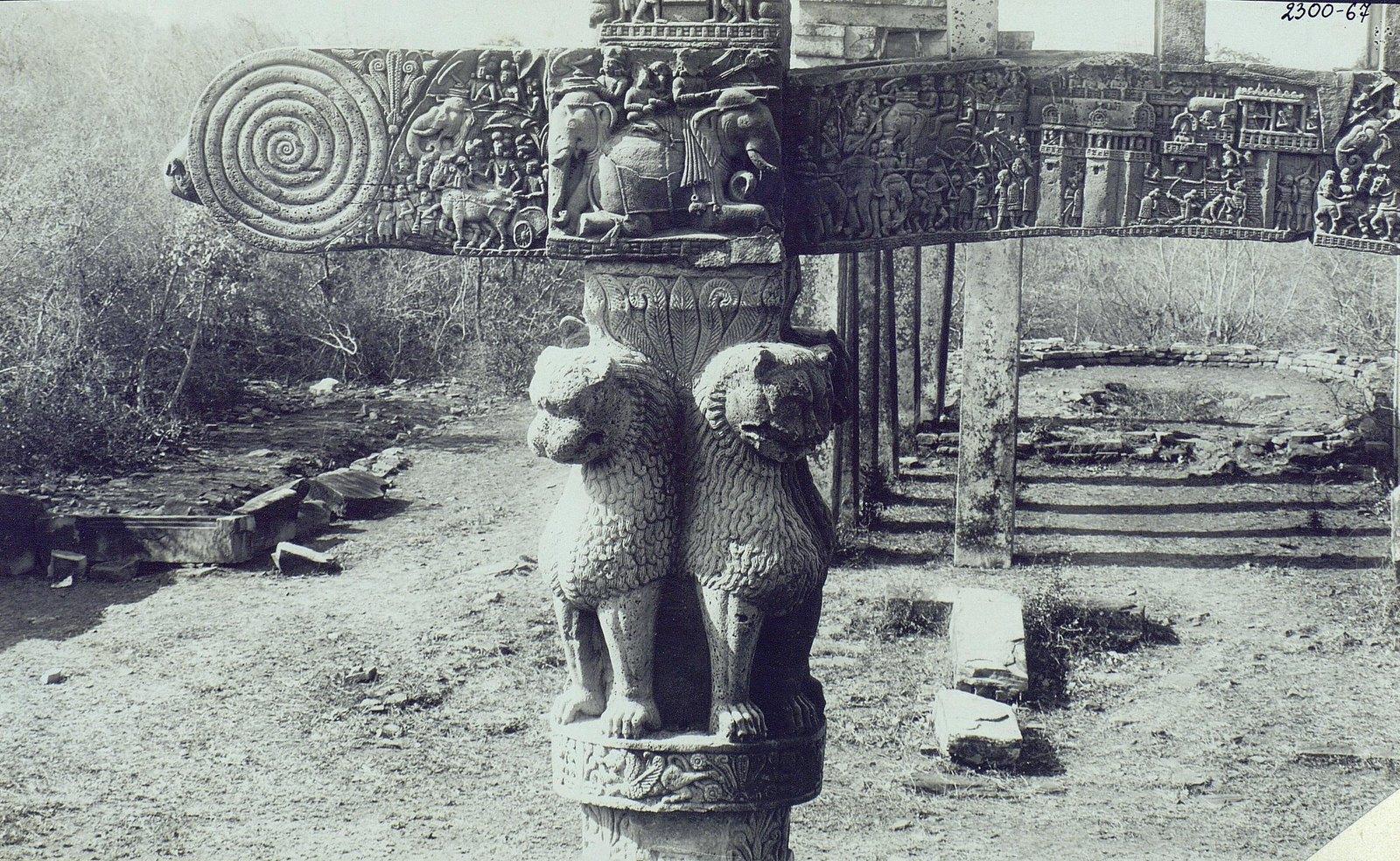 Буддийская ступа в Санчи (детали вторых ворот) (13)