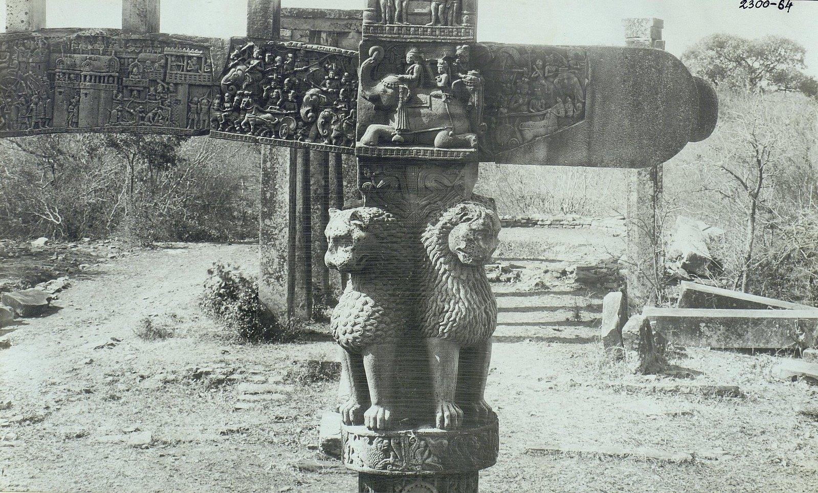 Буддийская ступа в Санчи (детали вторых ворот) (5)