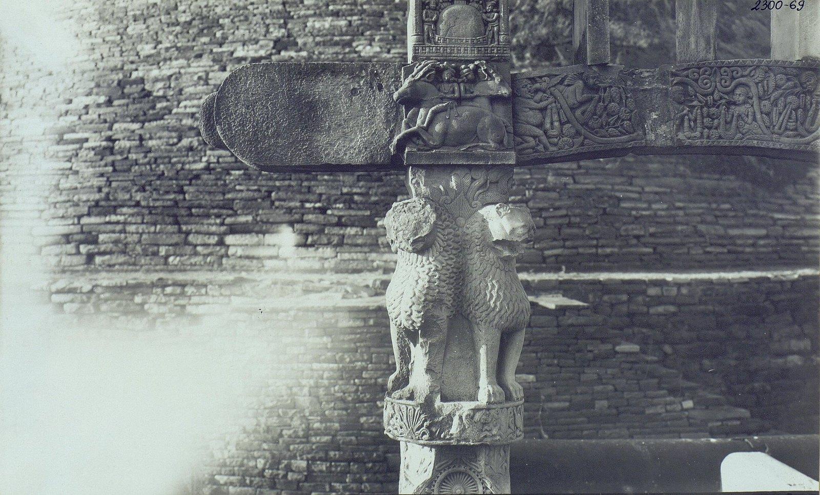 Буддийская ступа в Санчи (детали вторых ворот) (1)