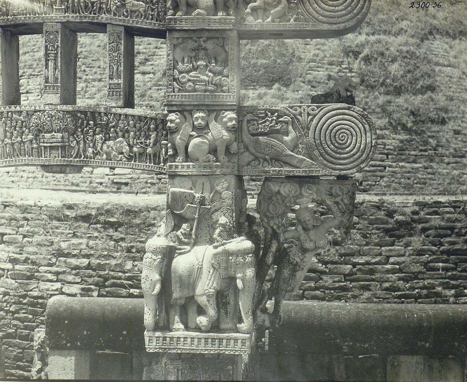 Буддийская ступа в Санчи (детали первых ворот) (14)