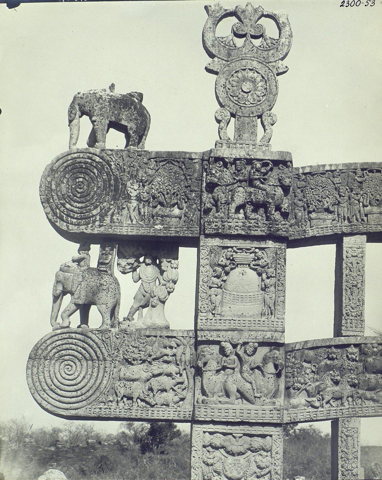 Буддийская ступа в Санчи (детали первых ворот) (2)