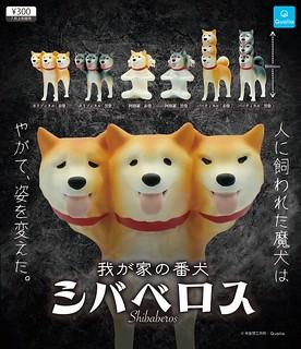 Qualia 腦洞大開的爆笑轉蛋作「柴貝洛斯」(シバベロス) 登場!這不是來自地獄的可怕三頭犬,只是我家養的三頭小魔柴啦~