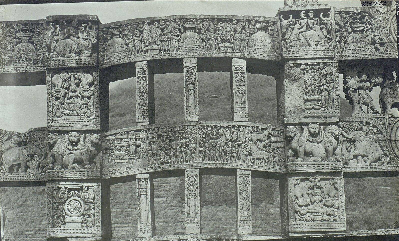 Буддийская ступа в Санчи (детали первых ворот) (3)