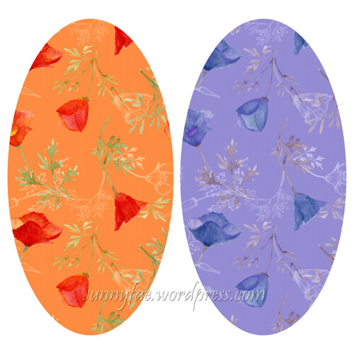 californian poppy pattterns