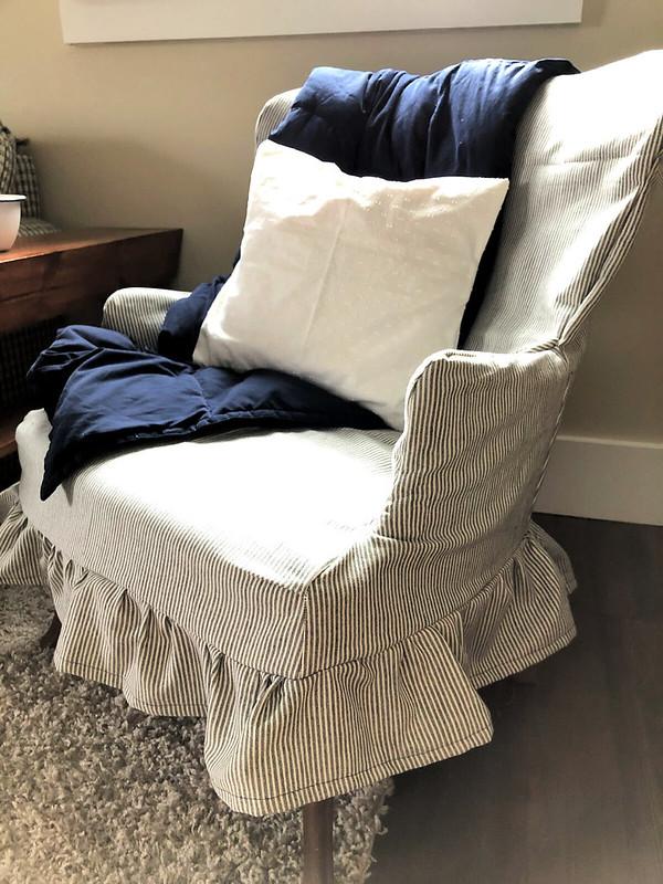 new slipcover for grandma's chair