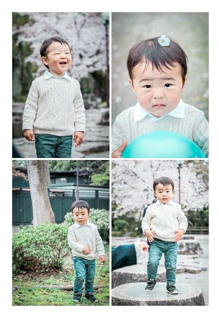 桜の花咲く岡崎公園で2歳のお誕生記念の写真撮影 愛知県岡崎市