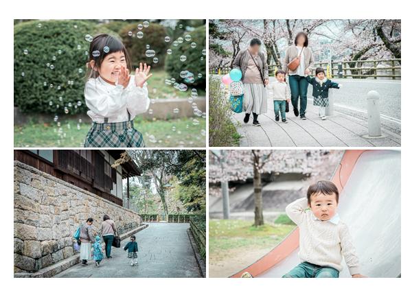 仲良しのお友達と一緒に♪桜の木の下で🌸入園と2歳のお誕生記念の親子写真 | 岡崎公園(愛知県岡崎市)