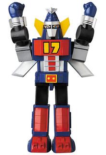 展翅高飛啟航!MEDICOM TOY《大鐵人17》飛行型態軟膠玩具(ワンセブン 飛行バージョン)