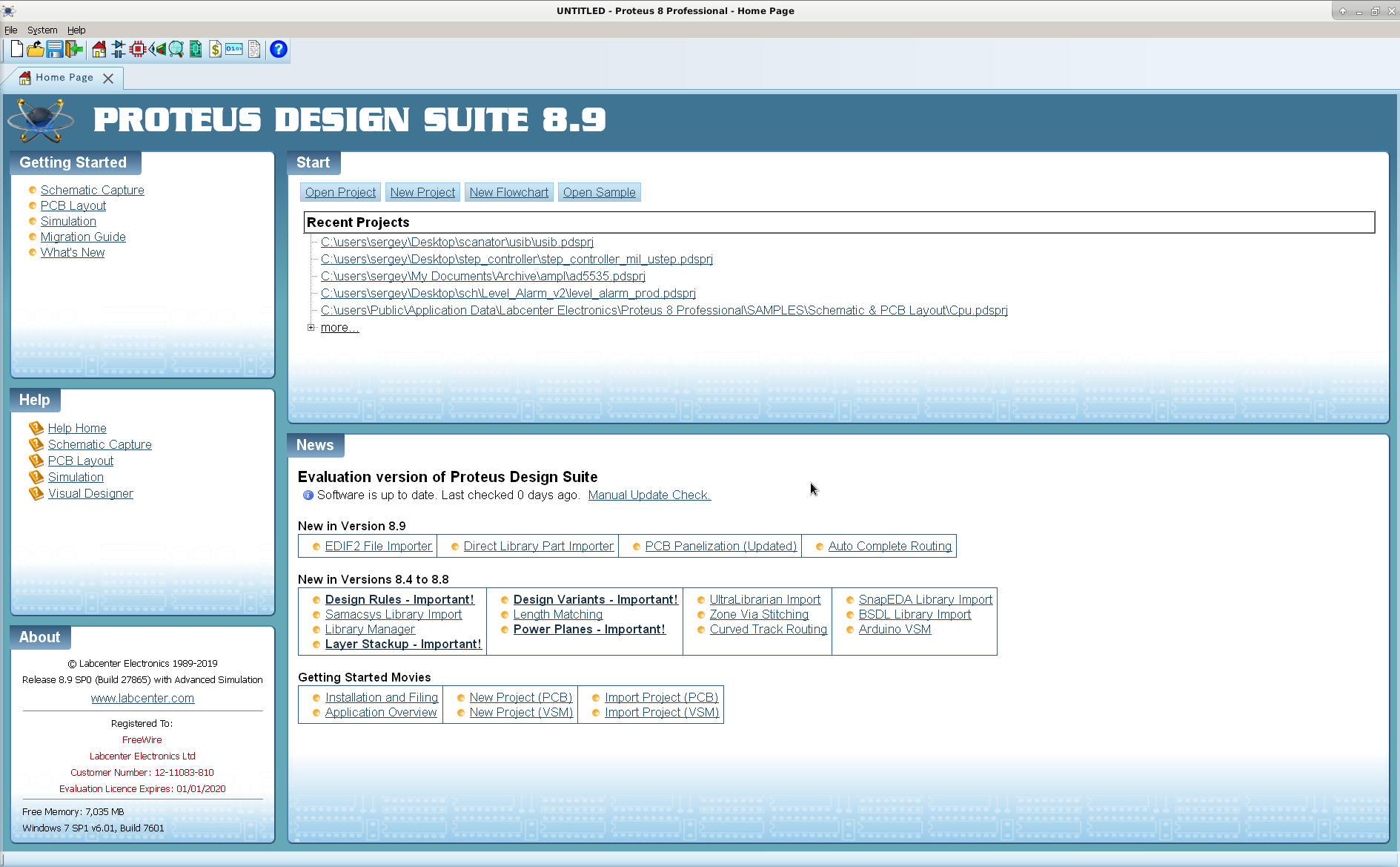 Proteus Design Suite 8.9 Build 27865 full license
