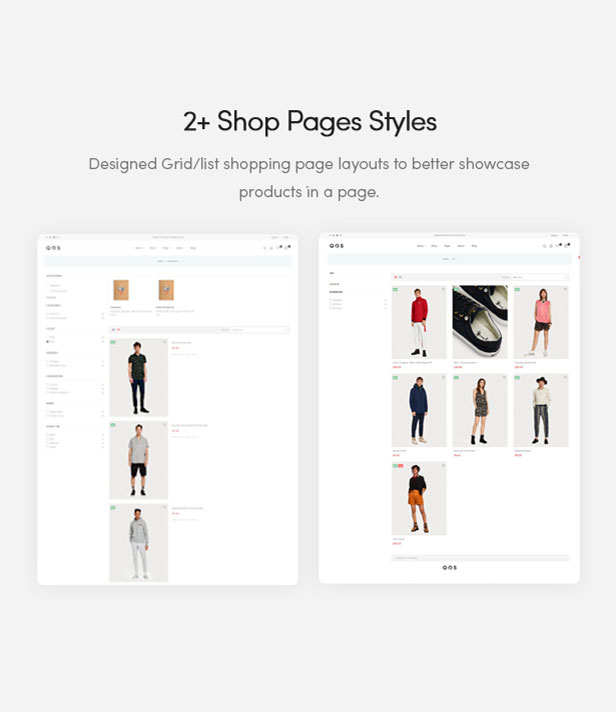 2+ Shop Pages Styles