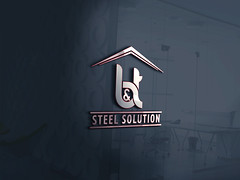 B and T Steel Solution a smart logo for your brand