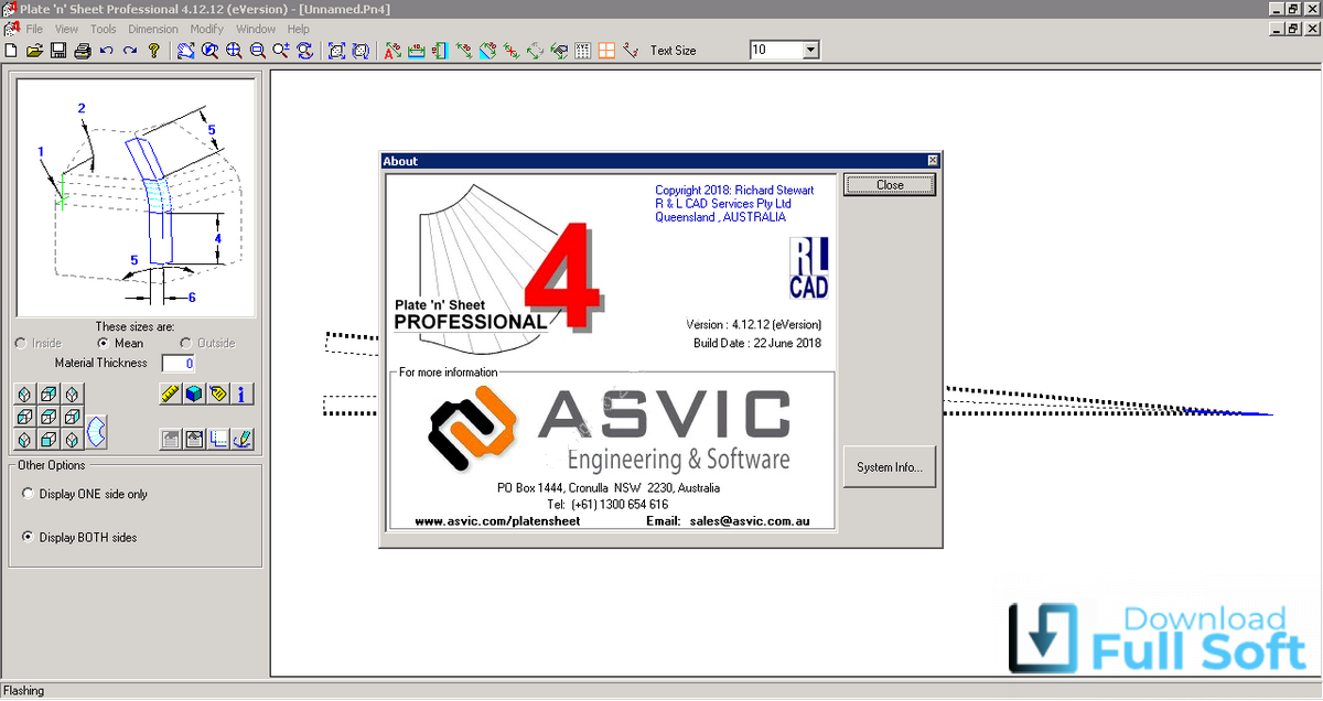 Working with R&L CAD Services Plate'n'Sheet v4.12.12e full license