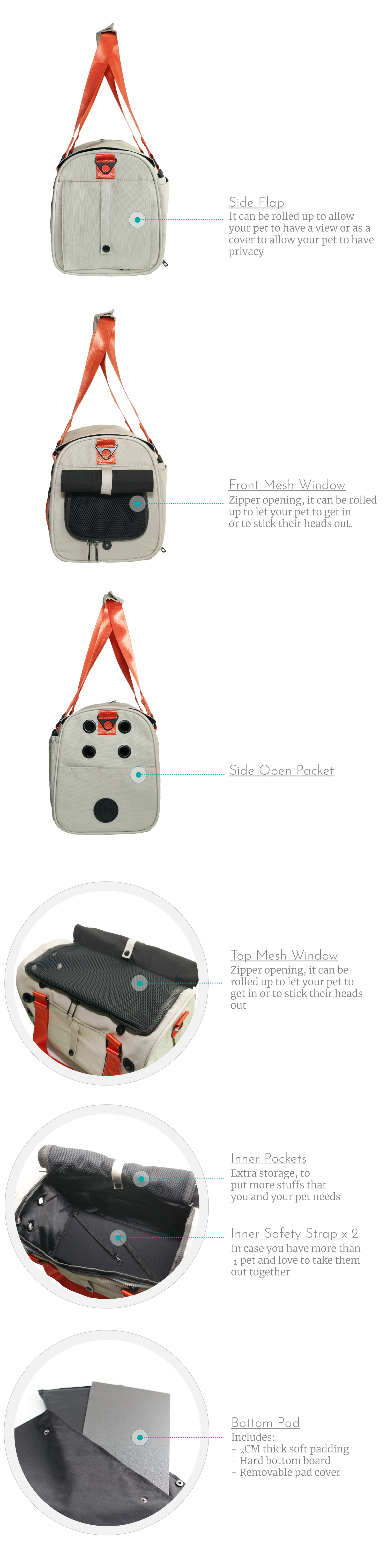 Functional dog carrier from Candy Apple Pet Supply